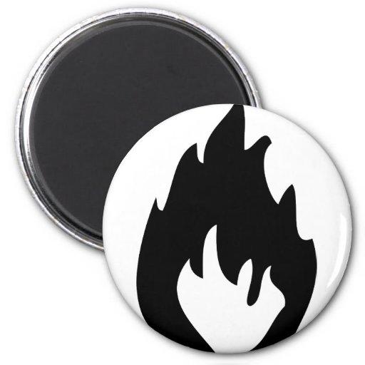 icono del fuego imán redondo 5 cm
