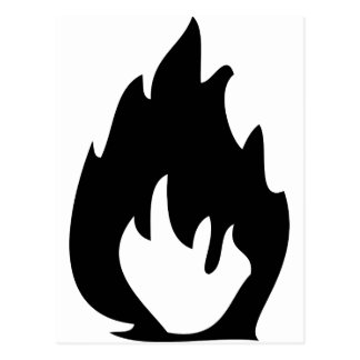 icono del fuego tarjeta postal