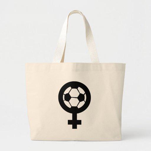 icono del fútbol de las mujeres bolsas