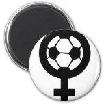 icono del fútbol de las mujeres iman para frigorífico