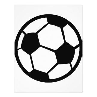 icono del fútbol flyer a todo color