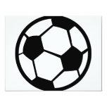 icono del fútbol invitación 10,8 x 13,9 cm