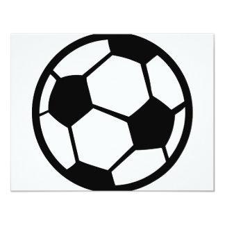 """icono del fútbol invitación 4.25"""" x 5.5"""""""