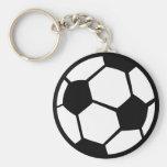 icono del fútbol llaveros