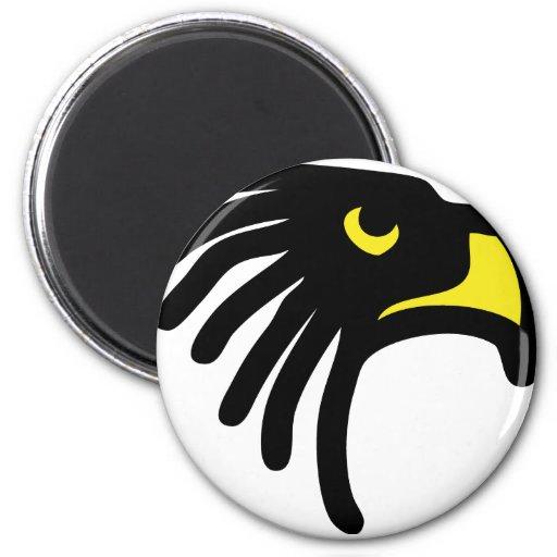 icono del halcón del águila imán de frigorífico