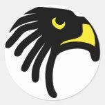icono del halcón del águila pegatina redonda