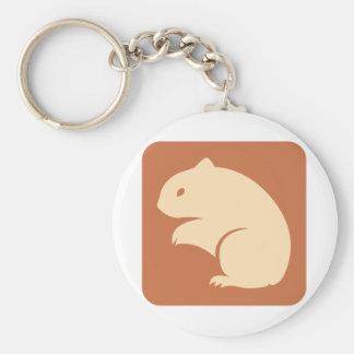 Icono del hámster de oro llavero redondo tipo pin