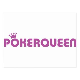 Icono del holdem de la reina Tejas del póker Tarjetas Postales