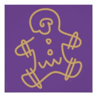 Icono del hombre de pan de jengibre perfect poster