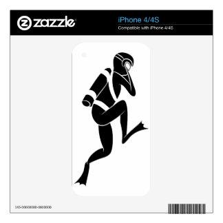 Icono del hombre del buceador skins para eliPhone 4