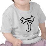 Icono del hueso de T Camisetas