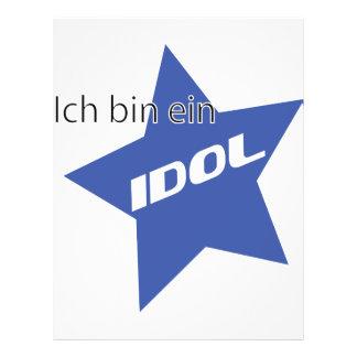 Icono del ídolo del ein del compartimiento de Ich Tarjeta Publicitaria