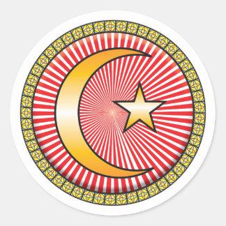 Icono del Islam Pegatina Redonda