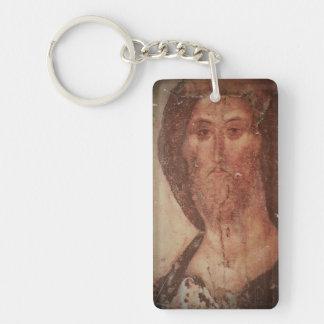 Icono del Jesucristo de Rublev Llavero Rectangular Acrílico A Una Cara