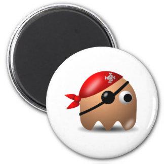 Icono del juego del pirata imán redondo 5 cm