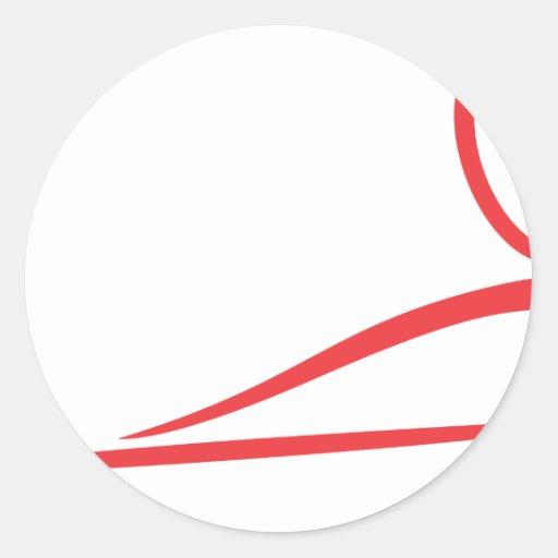 Icono del jugador de billar pegatina redonda