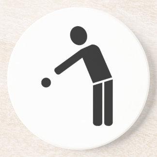 Icono del jugador de Petanque del Boule Posavaso Para Bebida