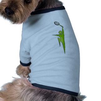 Icono del jugador de tenis camiseta con mangas para perro
