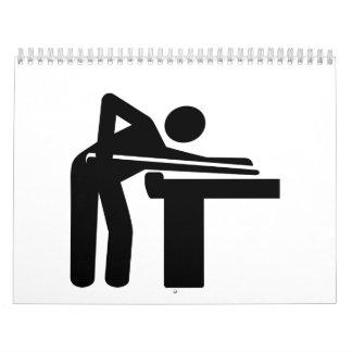 Icono del jugador del billar calendarios