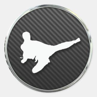 Icono del karate pegatina redonda