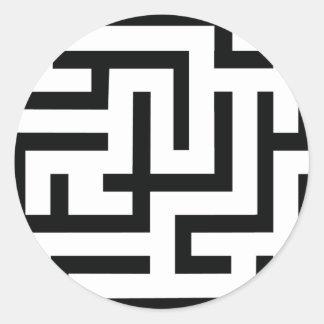 icono del laberinto etiquetas redondas