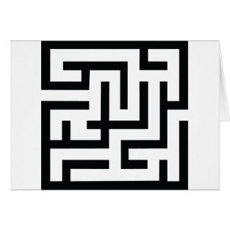 icono del laberinto tarjeta de felicitación