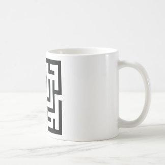 icono del laberinto taza de café