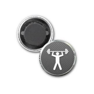 Icono del levantamiento de pesas imán redondo 3 cm