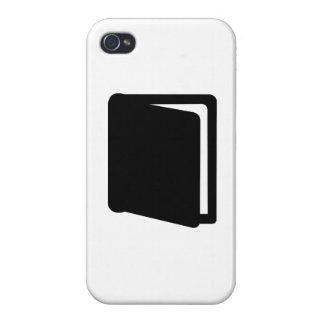 Icono del libro iPhone 4 fundas
