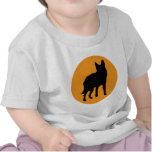icono del lobo del perro del sol camiseta