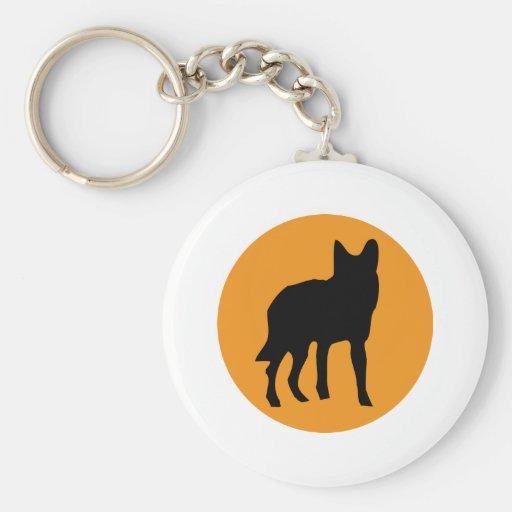 icono del lobo del perro del sol llavero redondo tipo pin