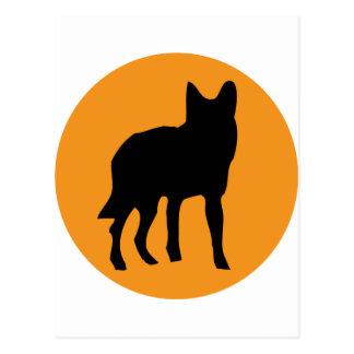 icono del lobo del perro del sol postales