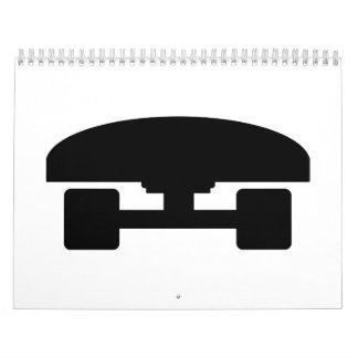 Icono del logotipo del monopatín calendario de pared