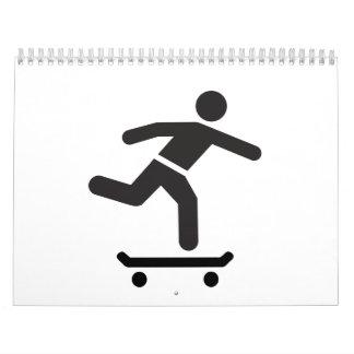 Icono del logotipo del skater calendarios de pared