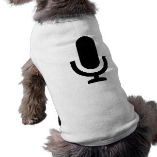 Icono del micrófono camisa de mascota