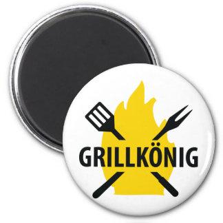 Icono del mit Flammen de Grillkönig Imanes Para Frigoríficos