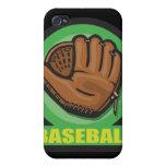 icono del mitón de la muestra del béisbol iPhone 4/4S carcasa