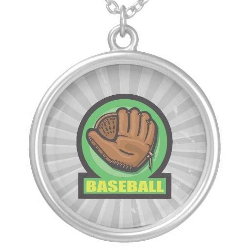 icono del mitón de la muestra del béisbol joyería