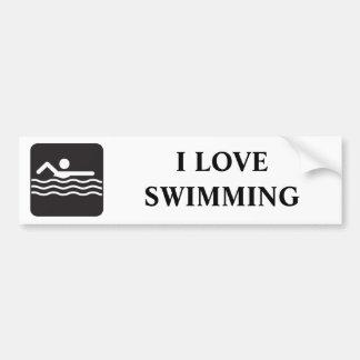 Icono del nadador etiqueta de parachoque
