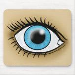 Icono del ojo azul alfombrilla de raton