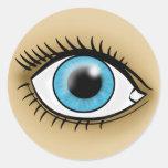 Icono del ojo azul etiquetas