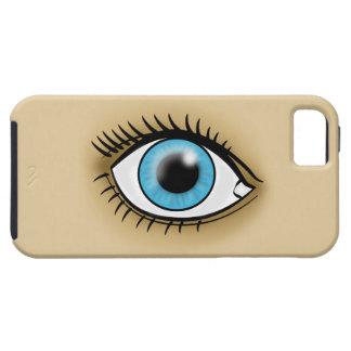 Icono del ojo azul iPhone 5 Case-Mate fundas