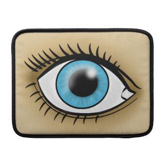Icono del ojo azul funda para macbook air