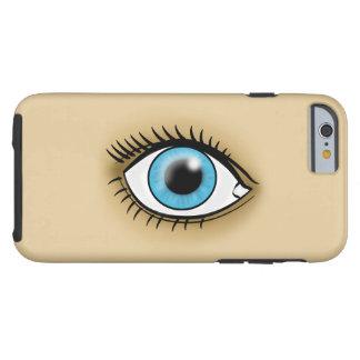 Icono del ojo azul funda resistente iPhone 6