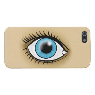 Icono del ojo azul iPhone 5 funda