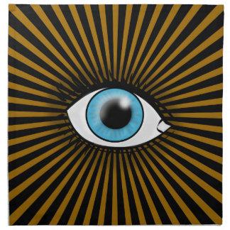 Icono del ojo azul servilleta