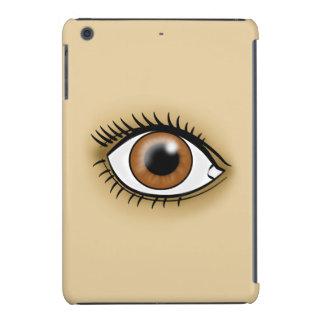 Icono del ojo de Brown Fundas De iPad Mini