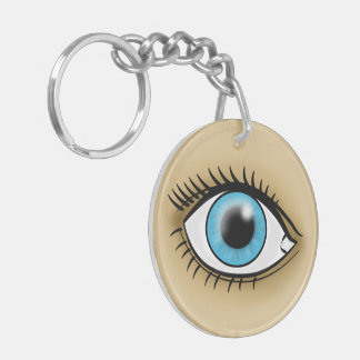 Icono del ojo de Brown Llavero