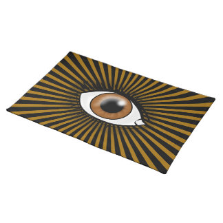 Icono del ojo de Brown Manteles Individuales