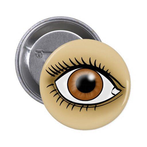 Icono del ojo de Brown Pins